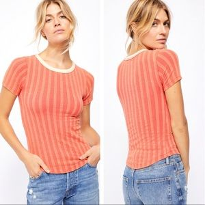 NWT Free People Escape Ribbed T-Shirt